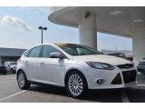 2012 White Platinum Tricoat Metallic Ford Focus Titanium 5-Door #84404058