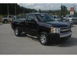 2008 Black Chevrolet Silverado 1500 LS Regular Cab 4x4 #84450038