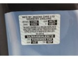 2010 XK Color Code for Frost Blue Metallic - Color Code: JJZ