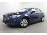 2013 Deep Impact Blue Metallic Ford Fusion S #84477756