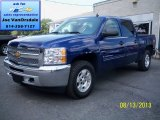 2013 Blue Topaz Metallic Chevrolet Silverado 1500 LT Crew Cab 4x4 #84518288