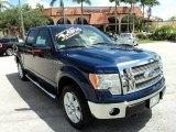 2011 Dark Blue Pearl Metallic Ford F150 Lariat SuperCrew 4x4 #84518335
