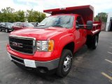 2013 Fire Red GMC Sierra 3500HD Regular Cab 4x4 Dump Truck #84565668