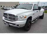 2007 Bright White Dodge Ram 3500 SLT Quad Cab 4x4 Dually #84565752