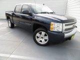 2008 Dark Blue Metallic Chevrolet Silverado 1500 LT Crew Cab #84565506