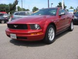 2005 Redfire Metallic Ford Mustang V6 Deluxe Coupe #84618185
