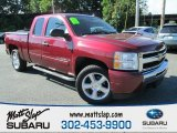 2009 Dark Cherry Red Metallic Chevrolet Silverado 1500 LT Extended Cab #84617911