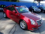 Crystal Red Cadillac CTS in 2009
