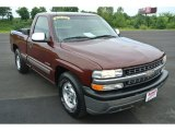 2001 Dark Carmine Red Metallic Chevrolet Silverado 1500 LS Regular Cab #84618042