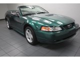 2000 Amazon Green Metallic Ford Mustang GT Convertible #84617956