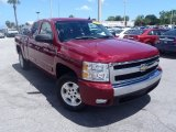 2007 Sport Red Metallic Chevrolet Silverado 1500 LT Extended Cab #84669646
