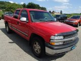 1999 Victory Red Chevrolet Silverado 1500 LS Extended Cab 4x4 #84669364