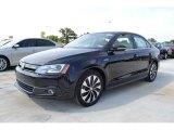 2013 Deep Black Pearl Metallic Volkswagen Jetta Hybrid SEL Premium #84669436