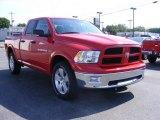 2012 Flame Red Dodge Ram 1500 Outdoorsman Quad Cab 4x4 #84669597