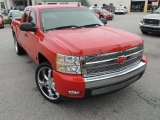 2007 Victory Red Chevrolet Silverado 1500 LT Extended Cab #84669421