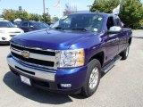 2011 Laser Blue Metallic Chevrolet Silverado 1500 LT Extended Cab 4x4 #84668987