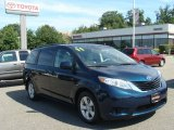 2011 South Pacific Blue Pearl Toyota Sienna LE #84669398