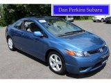 2007 Atomic Blue Metallic Honda Civic EX Coupe #84668946