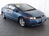 2007 Atomic Blue Metallic Honda Civic EX Coupe #84669025