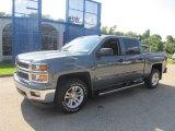 2014 Blue Granite Metallic Chevrolet Silverado 1500 LT Crew Cab 4x4 #84713522