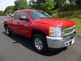 2012 Victory Red Chevrolet Silverado 1500 LS Extended Cab 4x4 #84736272
