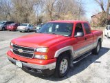 2007 Victory Red Chevrolet Silverado 1500 Classic LT Extended Cab 4x4 #8457230