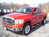 2006 Flame Red Dodge Ram 1500 Big Horn Edition Quad Cab 4x4 #8457228