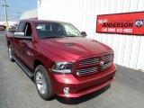 2014 Deep Cherry Red Crystal Pearl Ram 1500 Sport Quad Cab 4x4 #84739527