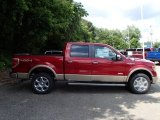 2013 Ruby Red Metallic Ford F150 Lariat SuperCrew 4x4 #84739276
