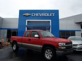 2002 Victory Red Chevrolet Silverado 1500 LS Extended Cab 4x4 #84739309