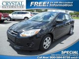 2012 Tuxedo Black Metallic Ford Focus S Sedan #84810010