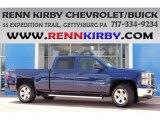 2014 Blue Topaz Metallic Chevrolet Silverado 1500 LT Z71 Crew Cab 4x4 #84809871