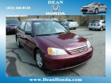 2002 Radiant Ruby Red Pearl Honda Civic LX Sedan #84810050