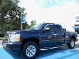 2009 Imperial Blue Metallic Chevrolet Silverado 1500 LS Extended Cab 4x4 #84859635