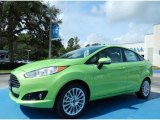 2014 Green Envy Ford Fiesta Titanium Sedan #84859629