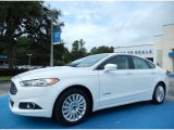 2013 White Platinum Metallic Tri-coat Ford Fusion Hybrid SE #84859640