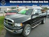 2005 Black Dodge Ram 1500 SLT Quad Cab 4x4 #84859832