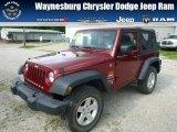 2012 Deep Cherry Red Crystal Pearl Jeep Wrangler Sport 4x4 #84859831