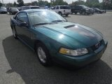 2000 Amazon Green Metallic Ford Mustang V6 Coupe #84908334