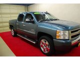 2009 Blue Granite Metallic Chevrolet Silverado 1500 LT Crew Cab #84907768