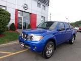 Metallic Blue Nissan Frontier in 2012