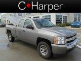 2008 Graystone Metallic Chevrolet Silverado 1500 LS Extended Cab 4x4 #84907518