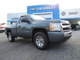 2011 Blue Granite Metallic Chevrolet Silverado 1500 LS Regular Cab #84908036