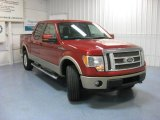 2010 Vermillion Red Ford F150 Lariat SuperCrew 4x4 #84965155
