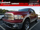 2011 Deep Cherry Red Crystal Pearl Dodge Ram 1500 Laramie Crew Cab #84992100