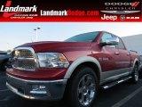 2010 Inferno Red Crystal Pearl Dodge Ram 1500 Laramie Crew Cab #84992099