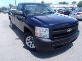 2008 Dark Blue Metallic Chevrolet Silverado 1500 Work Truck Regular Cab #85024646
