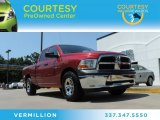 2010 Inferno Red Crystal Pearl Dodge Ram 1500 ST Quad Cab #85024516