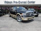 2012 Black Dodge Ram 1500 Laramie Longhorn Crew Cab 4x4 #85024612