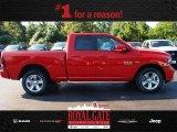 2014 Flame Red Ram 1500 Sport Quad Cab 4x4 #85024009